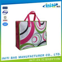 Folding promotional top quality pvc plastic zipper bags