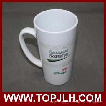 Café especial de cerámica taza 17 oz cono blanco taza