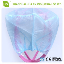 CE,ISO PP/Non woven blue disposable doctor cap without tie