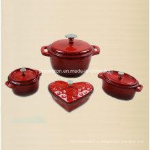 4PCS чугунная посуда в эмалированном покрытии
