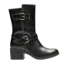 top quality buckle half bootsall ladies footwear design/slides footwear