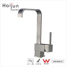 Haijun Wholesale Prices Modern Brushed Nickel Single Hole Kitchen Tap Faucet