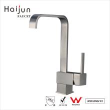 Preços de atacado Haijun Faucet de torneira de cozinha de fuso único de níquel escovado moderno