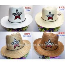 Chapéu de palha das crianças da moda para crianças chapéus bonitos do partido do papel