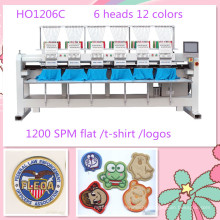 HOLiAUMA 6 Head 12 Needles Computerized Embroidery Machine For Commercial and Industrial Using