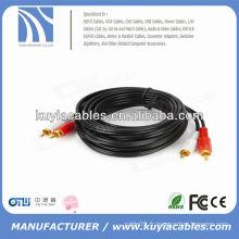 Câble audio de 3,5 mm à 2rca mâle à mâle audio AV 3M