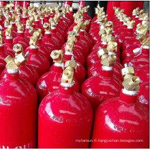 Cylindre de gaz d'azote avec la couleur rouge