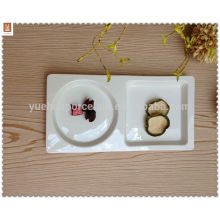 cheap wholesale white ceramic divided serving dish