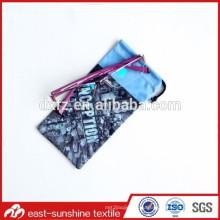 Дешевое изготовление микрофибры конструкции печатания мягкой в мешке в фарфоре, мешке упаковки микрофибры цифровой печати