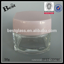 50g cosmetic jar with lid,glass cream jar for sale,50ml cosmetic packaging jar