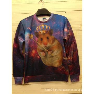Hamster Queen Impressão manga comprida Sweater