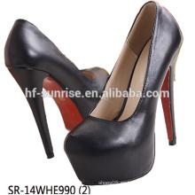 SR-14WHE990 (2) zapatos al por mayor del alto talón calzan los zapatos atractivos del alto talón de las señoras del brillo de las mujeres con estilo del alto talón