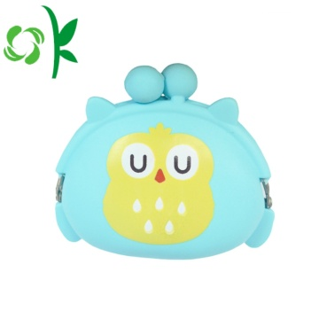 Qwl Shape Silicone Coin Bag Cartton Round Purse
