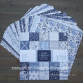 "Parisienne Blue 12X12"" Paper Pack Scrapbook Patterned Paper Pad"