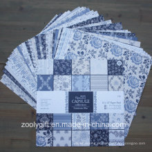 "Parisienne Blue 12X12 ""Papel Pack Scrapbook Patterned Pad Papel"