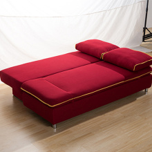 Fabric Folded Sleeping Armless Double Sofa Bed