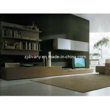 Style moderne italien salon téléviseur en bois armoire (SM-TV02)