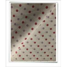tissu imprimé en coton lin pour robe