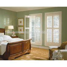 french 89mm blade wooden plantation window shutters interior from china