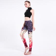 High Waist Geometric Print Sport Yoga Leegings 0245
