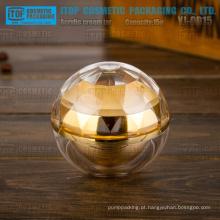 YJ-OD15 especial 15g recomendado frasco de diamante cristalinas camadas dobro dourada