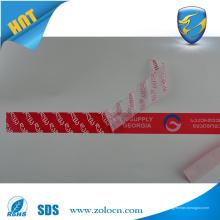 Anti-falsificación profesional anular etiqueta de seguridad
