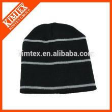 wholesale acrylic cheap custom striped hip hop beanie hat