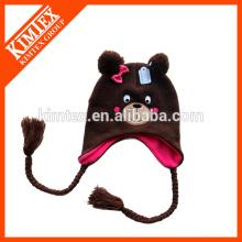 Patrón de tejido de punto sombrero earflap animal