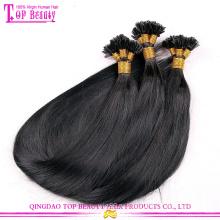 Оптовые продажи завода Цена U наконечник волосы расширение Перу прямой необработанных U подсказка волосы