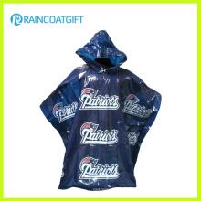 Desechables Clear Custom Poncho de lluvia impreso PE Rpe-028