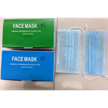 Masque facial chirurgical prêt à l'emploi fournisseur pour la protection médicale Ear Loop Tied cône types Kxt-FM26