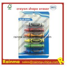 Crayon Shape Radiergummi für Schreibwarenbedarf