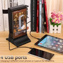Coffee Restaurant 20800mAh Fire-Resistant ABS Stand Menu Power Bank
