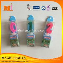 Venta al por mayor Spumual Color Change Number Candles