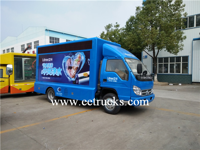 2 Screen Mobile LED Advertising Trucks