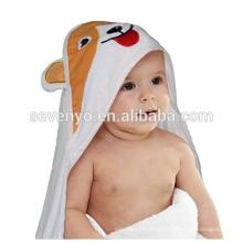 100% fibre de bambou chien mignon serviette à capuchon Qualité Premium: Ultra doux, Super absorbant, X-Large 90 * 90 cm, pour enfants et bébé serviette de bain
