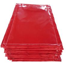 Matériau ignifuge tissu de silicone résistant aux produits chimiques