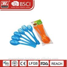 plastic spoon & fork set
