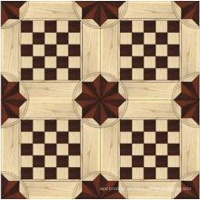 Lujoso piso de madera laminada y revestida de parquet caliente popular