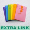 Envelop Style Custom Logo Handmade Paper Zipper Document Bag