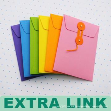 Envuelva la bolsa de documentos de la cremallera del papel hecho a mano del logotipo del estilo personalizado