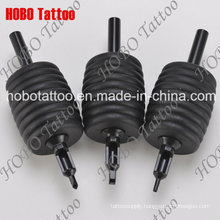 All Black 38mm 100% Silicone Rubber Disposable Tattoo Tube Dt-19.2