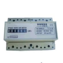 Medidor eletrônico ativo da energia trifásica do trilho DIN