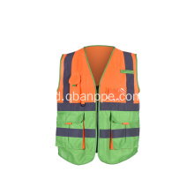 Visibilitas tinggi 100% polyester knit Safety Vest
