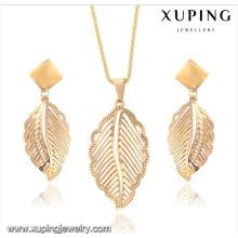 63914 moda delicada 18k banhado a ouro folha em forma de imitação de jóias em aço inoxidável