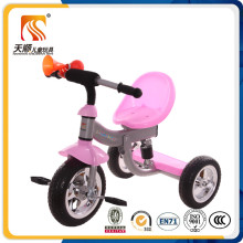 New PP Plastic Seat Metal Frame Three Color Children Tricycle