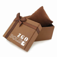 Luxury Paper Watch Boxes with Screen Printing White Logo