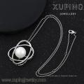 32119 xuping jóias de pérolas jóias ródio Micropaved Cubic Zirconia Diamond Oval Pear