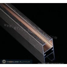 Алюминиевые профили для занавесей с матовым покрытием цвета розового золота