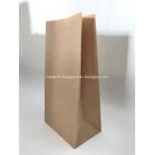Sac à fond plat Brown Kraft Paper pour pain